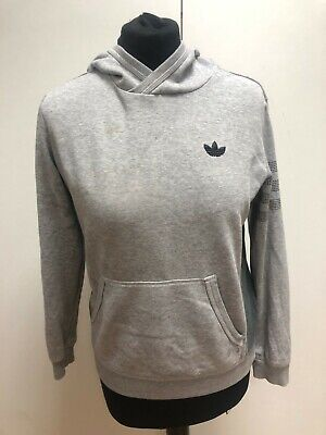 L736 Girls Adidas Grey Cotton Thin Pullover Tracksuit Hoodie Yl Age 11-12 Years
