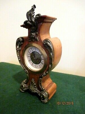 "Cute little Walnut "" Boulle "" Clock."