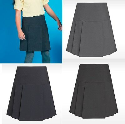 David Luke Eco Girls Drop Waist Pleat Skirt School Uniform Skirts Uk