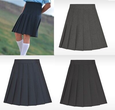 David Luke Girls Stitch Down Knife Pleat School Uniform Skirt Uk