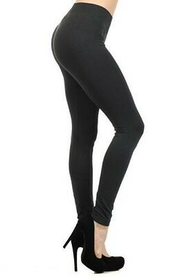 Girls Viscose Lycra Plain Stretchy Soft Leggings Elasticated Waist Black