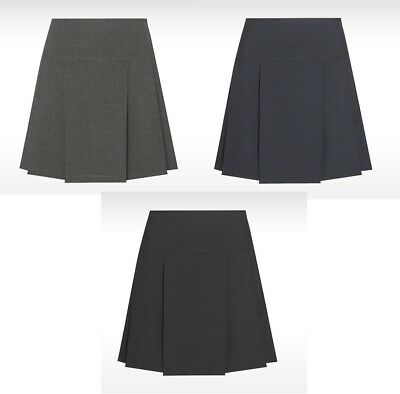 David Luke Senior Drop Waist Pleated Skirt School Work Pockets Uniform Girls
