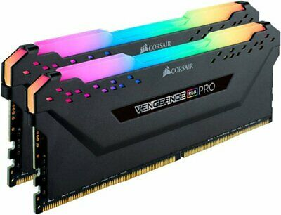 CORSAIR - Vengeance RGB PRO 16GB (2PK 8GB) 3GHz PC4-24000 DDR4 DIMM Unbuffered