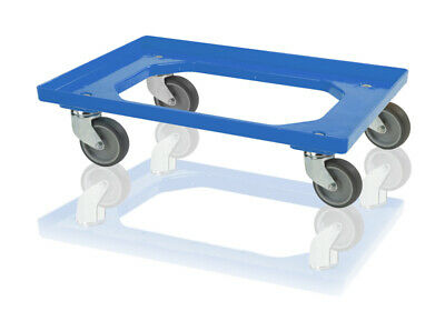 Caster Wheels Blue for Euro Containers 60x40 Trolley Euroroller Roll Wagon