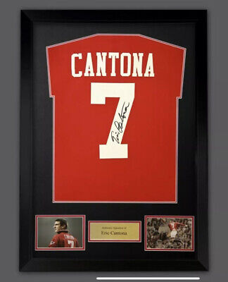 Manchester United Signed Eric Cantona Shirt  5 Only LeftSUPERB ITEM @ Only £225