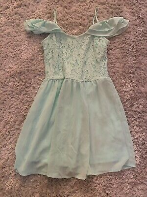 Girls New Look 915 Mint Green  Dress Age 11