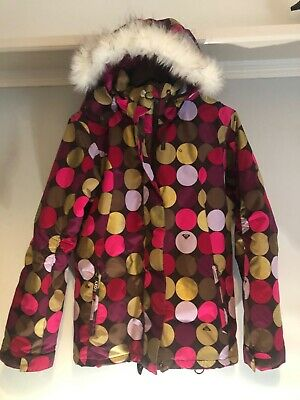 Roxy Ski Jacket Girls age 14 #Boom bargain jacket girls winter coat fur collar