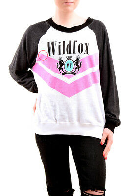 Wildfox Women's New Kim's WF Academy Sweater Multicolor Size M RRP $ 109 BCF76