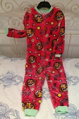 Girls Paw Patrol Pink All In One Sleepsuit by Boots Mini Club Age 3-4