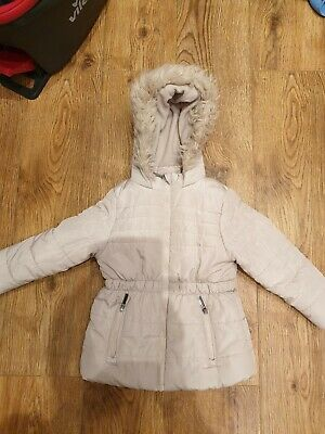Girls George Cream Coat Age 4-5 years