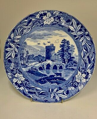 Antique Spode Blue & White Transfer Print Plate circa 1820