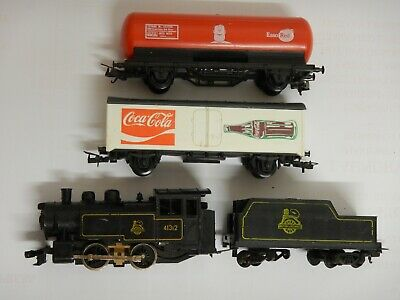 Lima Ho Gauge Steam Locomotive And Two Wagons