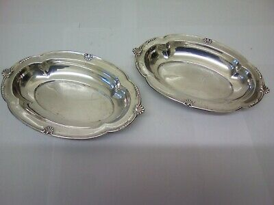 Antique Hallmarked Solid silver dishes 16.5 cm long 102 grams