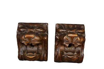 french antic entry locks furniture carved wood furniture  lion's head