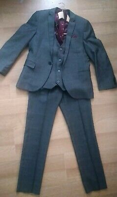 Boys Next 3 Piece Suit, with waistcoat and tie, Age 11