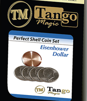 Perfect Shell Coin Set Eisenhower Dollar (Shell and 4 Coins D0202) by Tango