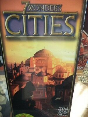 7 Wonders Cities Expansion Repos Production Games Board Game New! Seven Wonders