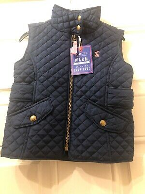 Joules Girls Gillet Size 3 Years - NEW