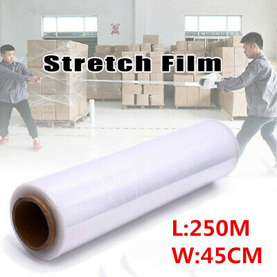 "4 Rolls 18"" x 1500FT 80 Gauge Pallet Wrap Stretch Film Hand Shrink Wrap White"