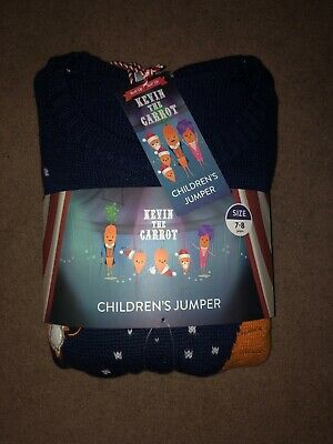 Aldi Kevin The Carrot Christmas Jumper Children 7-8 Years