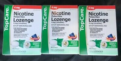 XMAS Deal!Nicotine PolLOZENGES Cool Mintflavor4MG (3 PACK!) Fast free Ship!
