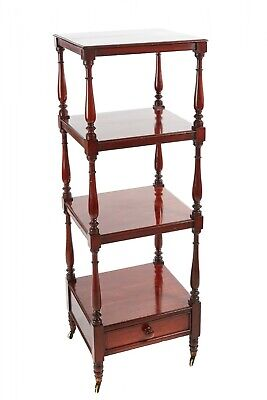 William IV Mahogany Freestanding Four-Tier Whatnot