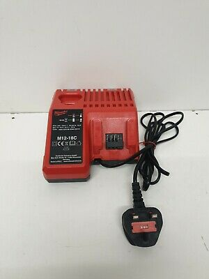 Milwaukee M12-18C 12v - 18v Twin Port Battery Charger EXCELLENT CONDITION