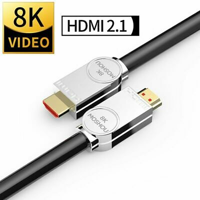 HDMI Cable 2.1 Ultra HD 8K 48Gbs Audio Ethernet 4:4:4 1M 2M 5M 10M 15M 20M Lot