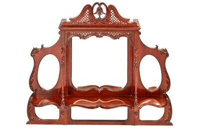 Quality Victorian Carved Mahogany Overmantle Wall Mirror