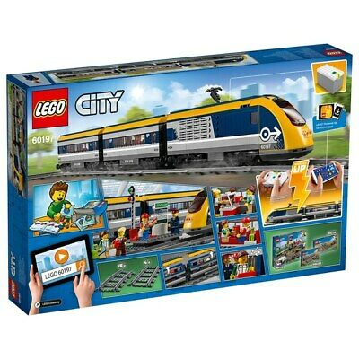 Lego Train 60197 City Passenger Yellow Blue RC Toy Bluetooth App IOS Android NEW