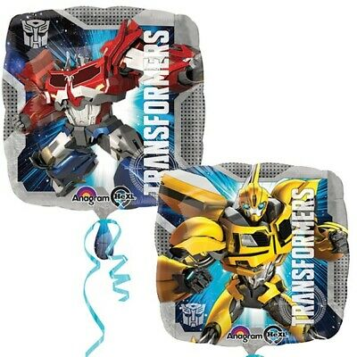 """TRANSFORMERS Optimus Prime Bumble Bee 2 Sided 18""""  Foil HELIUM BALLOON Amscan"""
