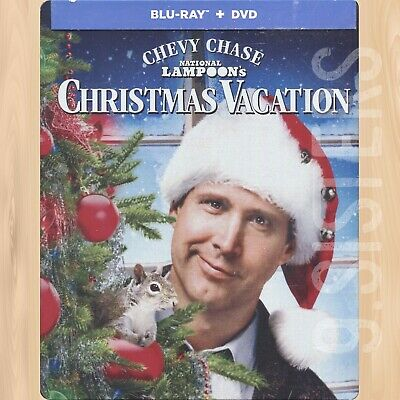 National Lampoon's CHRISTMAS VACATION SteelBook BLU-RAY + DVD Chevy Chase   1210