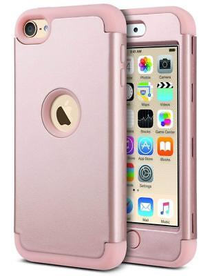 iPod Touch 6 Hybrid 3 Layer Silicone Shockproof Hard Case 5th/6th Generation R/G