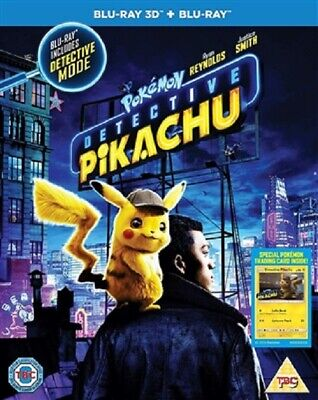 Pokemon Detective Pikachu 3D 07/19 3D (used) Blu-ray Only Disc Please Read