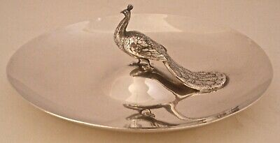 Reed & Barton Figural Cast Peacock Sterling Silver Bowl C. 1941