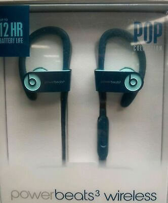Beats by Dr. Dre Powerbeats 3 Wireless Headphones blue brand new pop collection