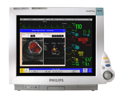 "Philips Intellivue Mp70 15"" Patient Touch Colour Bedside Anesthesia Monitor Uk"