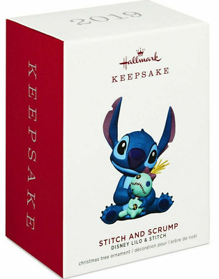 Hallmark 2019 Disney LILO & STITCH, & SCRUMP Ornament