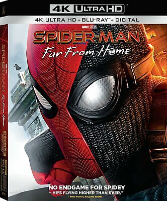 Spiderman Far From Home 4k UHD disk and case only Brand New