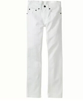 Levi's Boy's Denim Jeans Optic White USA 16 Regular  Stretch Skinny Fit $48 040