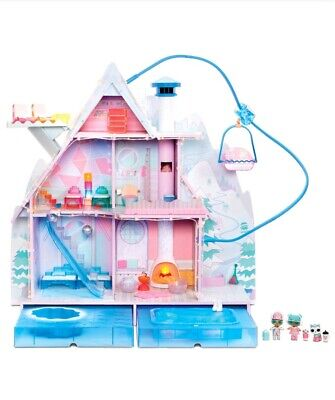 LOL Surprise Doll House Winter Disco Chalet 95+ Surprises & Exclusive Family NEW