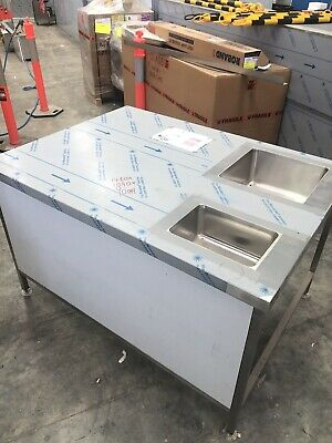 Stainless steel bench with sink, Suit Coffee Machine