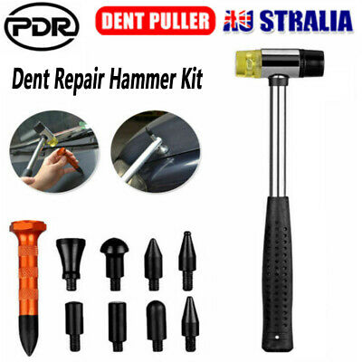 PDR Car Body Hail Paintless Dent Repair Bumping Hammer Puller Tap Down Tools Kit