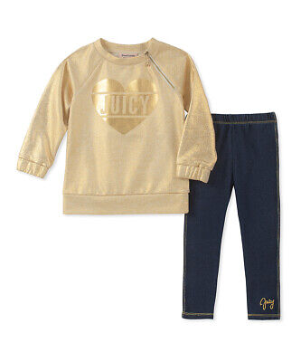 Juicy Couture Baby Girls Tunic and Leggings 2 Piece Set - Sz 18 mos