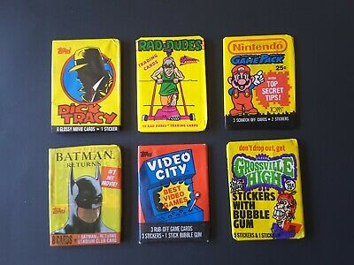 Mixed lot of 6 sealed packs of  collector cards