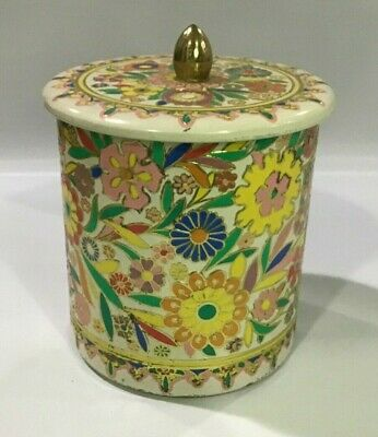 Holland Floral Decorative Vintage Tin Round Stamped Relief