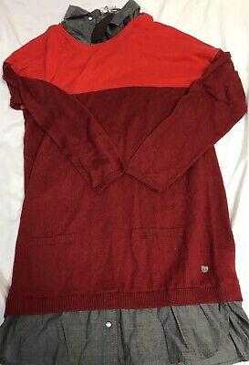 Catimini Girls Knit Sweater Dress Red Holiday Size 12 12 A