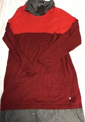 NWT Catimini Girls Knit Red Holiday Dress Size 16 16 A