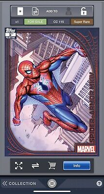 Topps Marvel Collect Spider Suits 1st Print Spider Armor MKIV