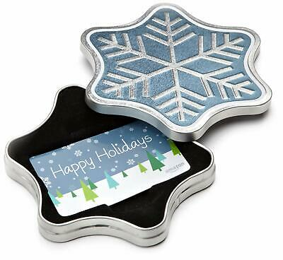 Amazon.com Gift Card in Snowflake Tin  -  $25 $50 $60 $75 $100 FAST DELIVERY